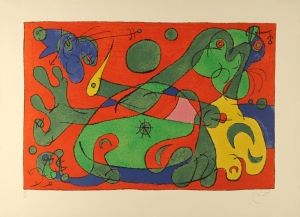 Joan Miro, 1966, Color lithograph