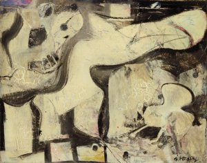 Valentine 1947 Willem de Kooning Oil and Enamel on Paper on Board 36 38 in. — pinterest.com