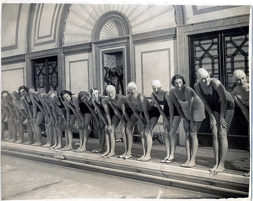 Marshall Street Baths - Rehearsals for Cinderella Pantomine 9 November 1934