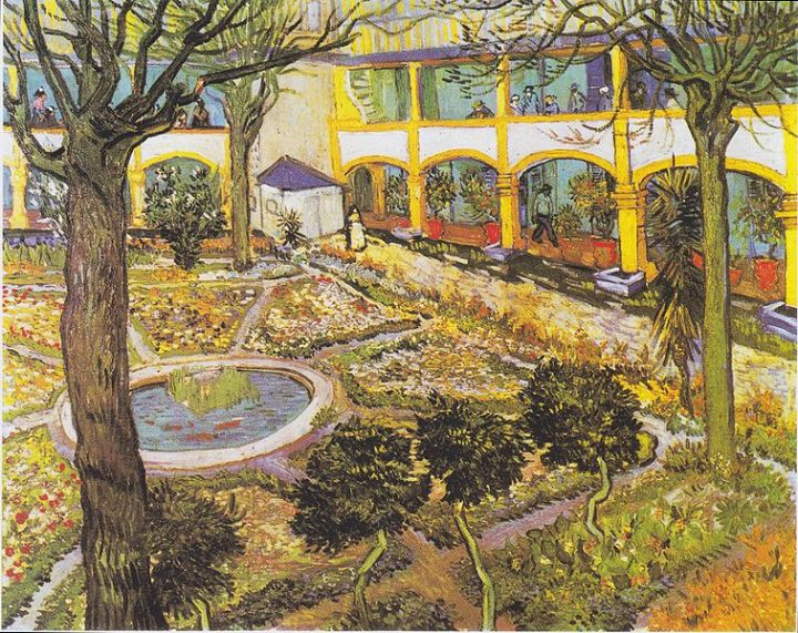 Garden of the Hospital in Arles, Vincent van Gogh, 1889