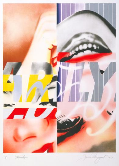 Marilyn 1974 by James Rosenquist born 1933